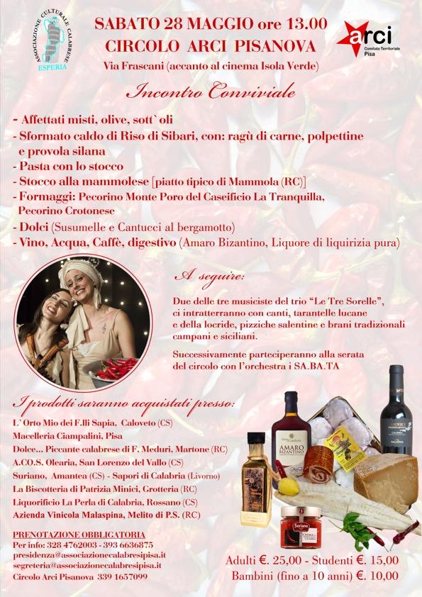 Incontro Conviviale – Sabato 28 Maggio – Pisa