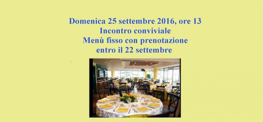 Pranzo sociale – domenica 25 settembre