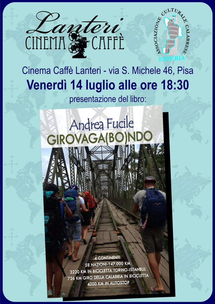 14 LUGLIO ORE 18:30 AL CINEMA CAFFE' LANTERI con GIROVAGA(BO)NDO  di Andrea Fucile