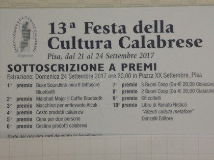 13° Festa della Cultura Calabrese 2017 è alle porte