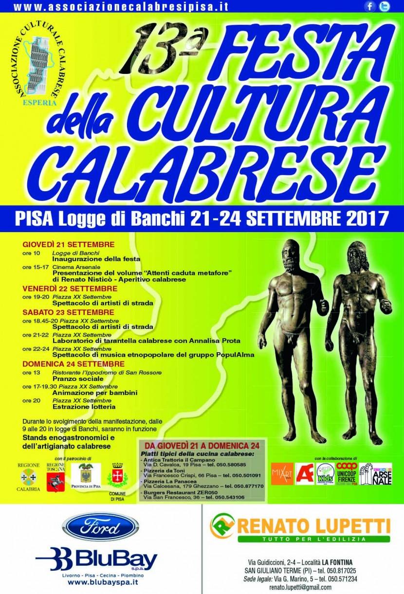 ESPERIA : 13° FESTA DELLA CULTURA CALABRESE