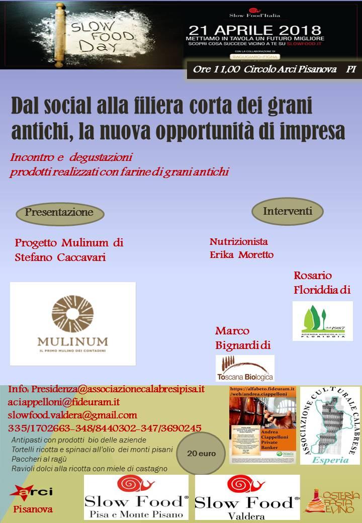 """""""Dal social alla filiera corta dei grani  antichi, la nuova opportunità di impresa"""": evento del 21 aprile 2018"""