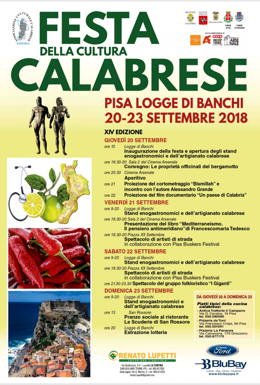 ESPERIA E LA 14° EDIZIONE DELLA FESTA DELLA CULTURA CALABRESE