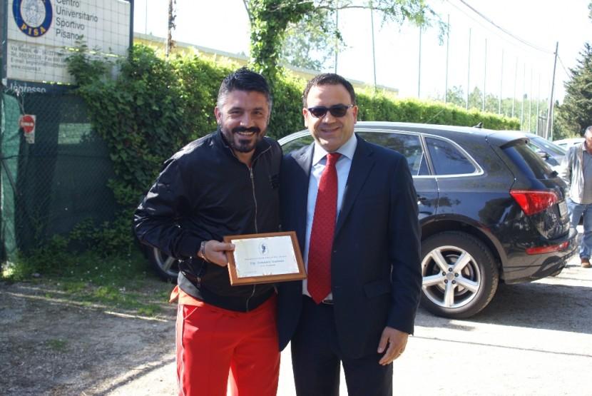 Il nostro Gennaro Gattuso con il Presidente di Esperia
