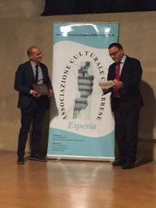 Prof. Tommaso Greco e il Presidente di esperia