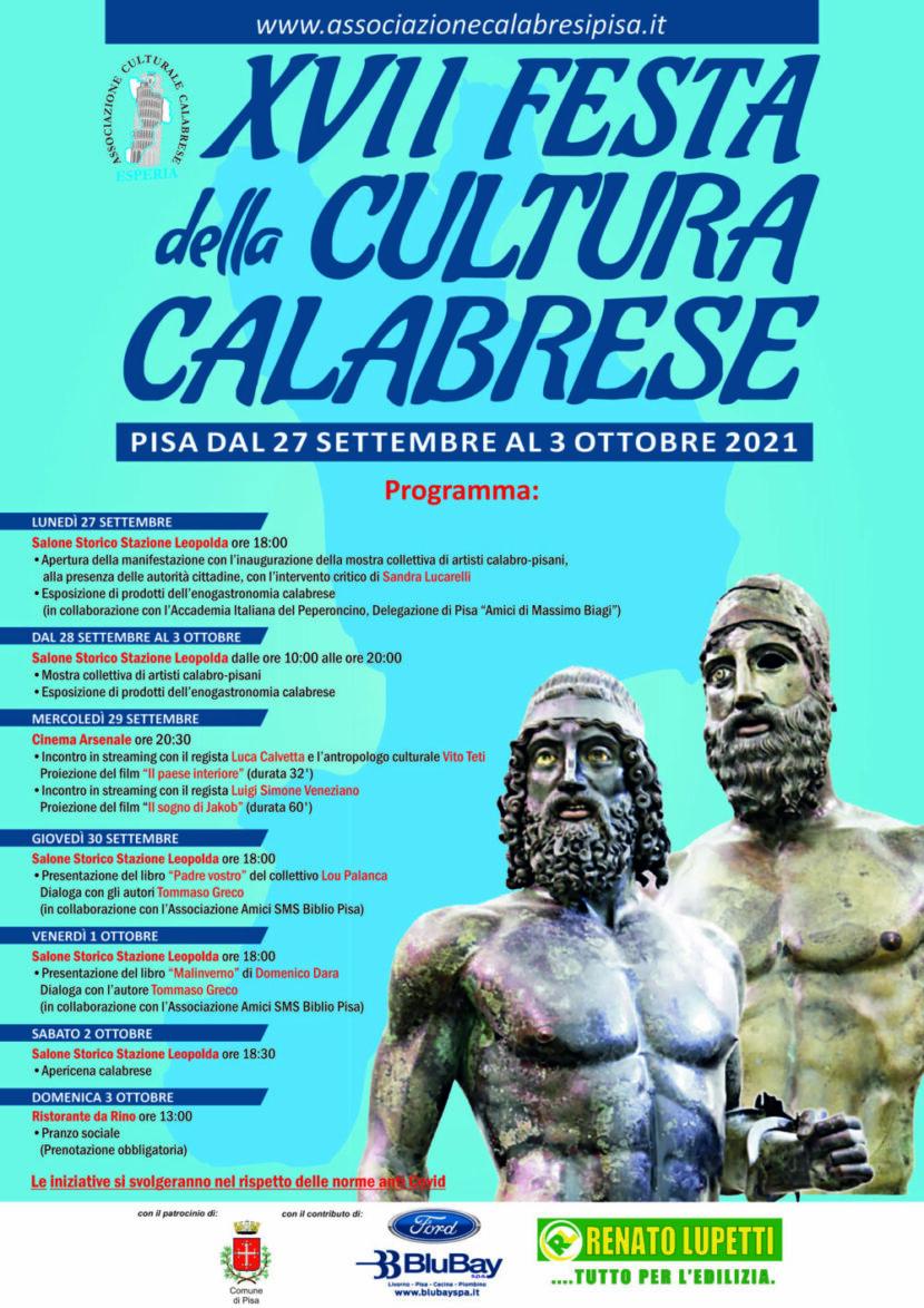 Programma XVII FESTA DELLA CULTURA CALABRESE